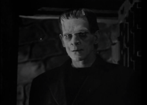 The monster as depicted in James Whale's Frankenstein (1931)